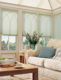 Conservatory vertical venetian pleated Blinds